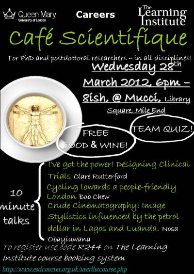 Image of Cafe Scientifique Poster